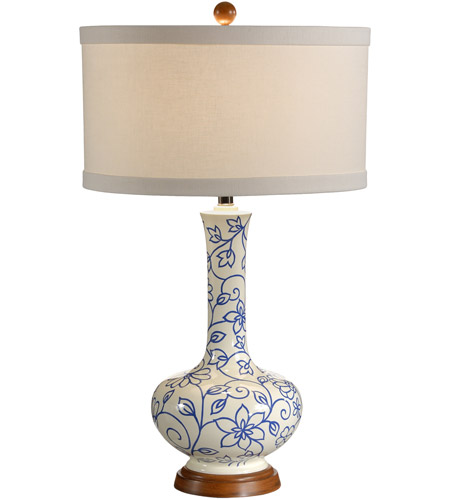 Wildwood Lamps Simple Vine Of Flowers Table Lamp in Hand Painted Lacquer On Composite 15662 photo