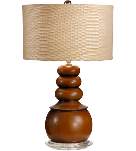 Wildwood Lamps Floats On Top Table Lamp in Craftsman Turned And Finished Wood 15671-2 photo