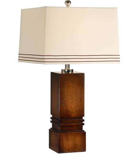 Wildwood Lamps Tommys Box Table Lamp in Black Mahogany Wood Finish 15673 photo