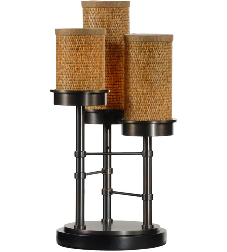 Wildwood Lamps Triple Upright Table Lamp in Old Bronze On Brass Finish 15682 photo