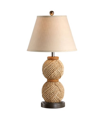 Wildwood Lamps Tommy Bahama Hand Wrapped Natural Materials Graduated Fists Lamp - Old Bronze Finished Mountings 15697 photo