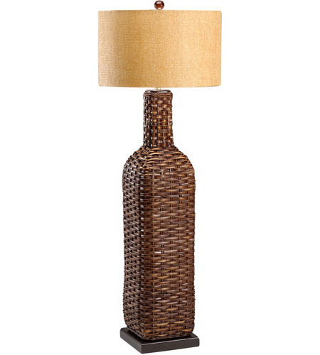 Wildwood Lamps Tommy Bahama 1 Light Woven Bottle Floor Lamp Hand Woven Floor Lamp in Hand Woven Natural Materials 15726 photo