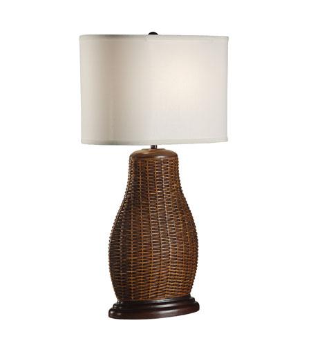Wildwood Lamps Tommy Bahama 1 Light Oval Rattan Vase Table Lamp 15733 photo
