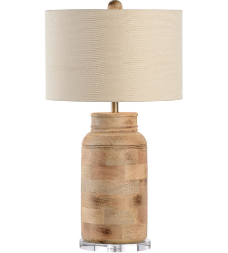 Wildwood 15757 Tommy Bahama 31 Inch 100 Watt Hand Turned With Raw Wood Table Lamp Portable Light