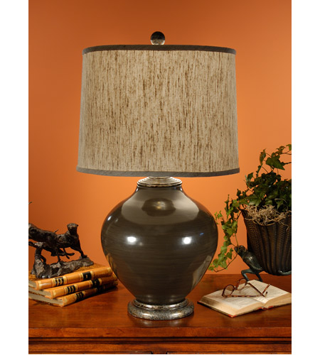 Wildwood Lamps Olla III Table Lamp in Hand Thrown and Glazed Pottery 16027