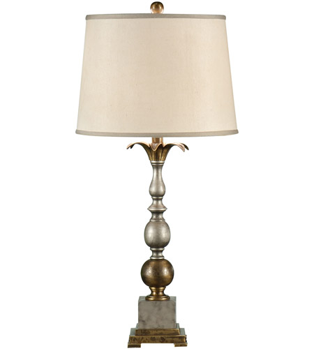 Wildwood Lamps Pewter And Old Gold Table Lamp in Antique Patina 17110 photo