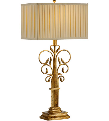 Wildwood Lamps Scroll And Leaves Table Lamp in Antique Gold Leaf Finish 17129 photo