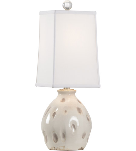 Wildwood 17206 Dimples 24 inch 100 watt Aged Cream and Taupe Glaze Table Lamp Portable Light, Small