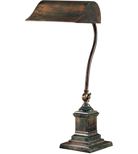 Wildwood Lamps Gooseneck Bronze Table Lamp in Excavo Bronze On Solid Brass 2034 photo
