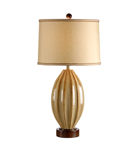 Wildwood Lamps High Country Hand Made And Glazed Creases Galor Lamp - Walnut Finished Mounting 21233 photo