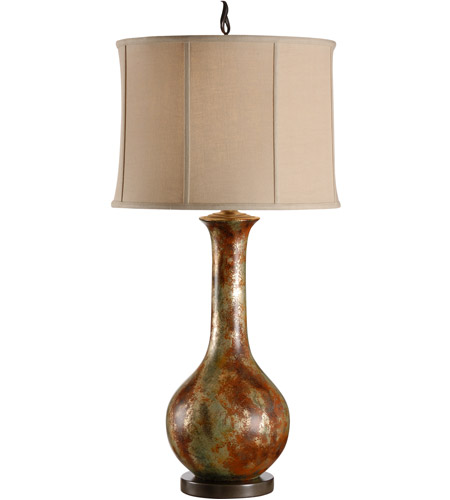 Wildwood Lamps High Country 1 Light Long Neck Bottle Lamp Table Lamp in Hand Colored 21238 photo