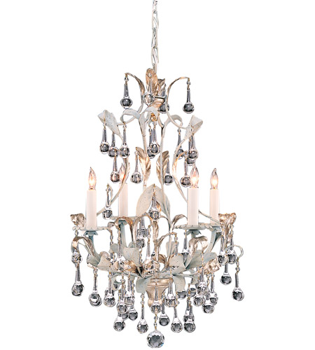 Wildwood Lamps Silver Crystal Chandelier in Brass 215 photo