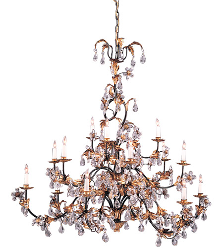 Wildwood Lamps Gold And Crystals Chandelier in Hand Finished With Lead Crystal 219 photo