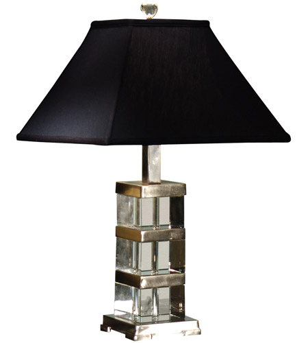 Wildwood Lamps Crystal Blocks Table Lamp in Crystal With Nickel Plated Solid Brass 22107 photo