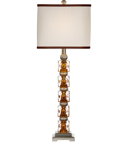 Wildwood Lamps Hidden Amber Table Lamp in Brushed Nickel Mounting 22206 photo