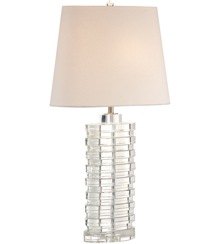 Wildwood Lamps Stacked Ovals Table Lamp In Brushed Nickel