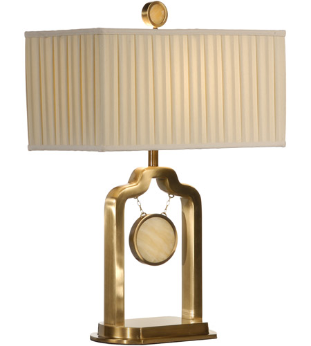 Wildwood Lamps Stone Target Table Lamp in Antique Patina On Cast Brass 22306 photo