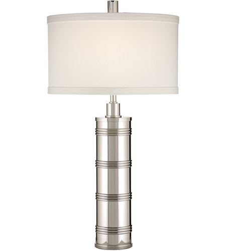 Wildwood Lamps Bound Cylinder Table Lamp In Nickel Plated