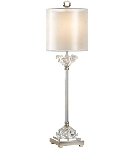 Wildwood 22428 Transitional 35 Inch 60 Watt Nickel With Cast Gl Table Lamp Portable Light