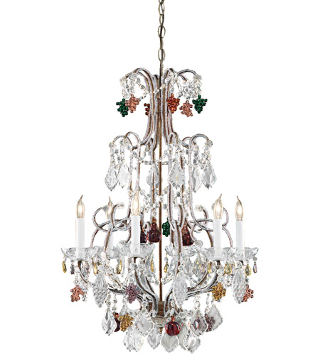 Wildwood Lamps Crystal Fruits Chandelier in Hand Formed Bronze With Lead Crystal 2247 photo