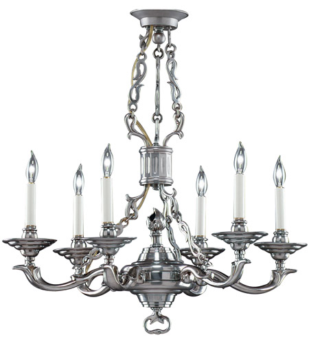Wildwood Lamps French Brass Chandelier in Antique Pewter Finish On Cast Brass 2299 photo