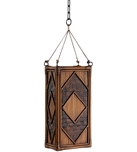 Wildwood Lamps Bamboo Panel Lantern Hanging Lantern 23168 photo