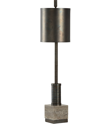Wildwood 23359 Circuit 36 inch 100 watt Scorched Bronze and Grey Table Lamp Portable Light photo