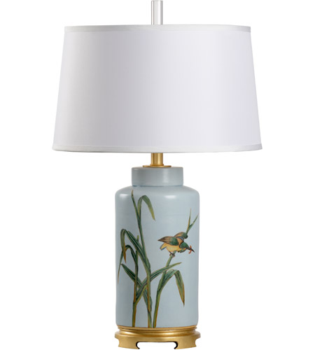Wildwood 23377 Biltmore 29 Inch 100 Watt Hand Painted Table Lamp Portable Light