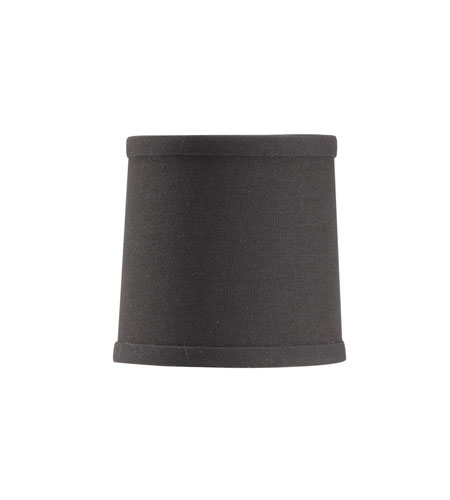 Wildwood Lamps Signature Black Linen Chandelier Shade Shade 24015 photo