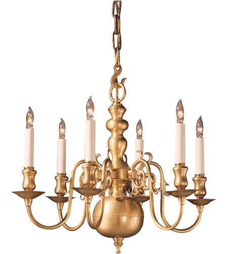 Wildwood Lamps Colonial Brass Chandelier in Antique Brass 247 photo