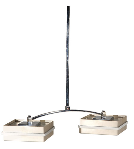 Wildwood Lamps 2 Light Led Pendant in Brushed Nickel 25110 photo