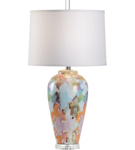Wildwood 25704 Laura Park Designs 31 Inch 100 Watt Multi Color Decal Table Lamp Portable Light