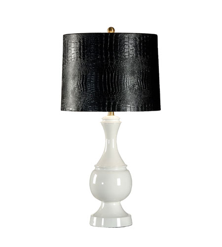 Wildwood Lamps Studio W 1 Light Margeaux Table Lamp in Gardenia 26103-2 photo
