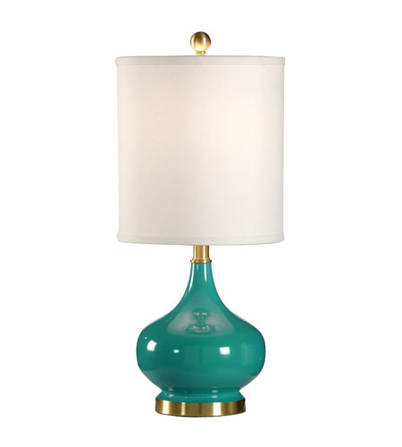 Wildwood Lamps Studio W 1 Light Martine Table Lamp in Azure 26109 photo