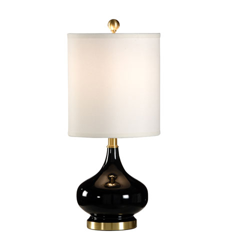 Wildwood Lamps Studio W 1 Light Martine Table Lamp in Onyx 26111 photo
