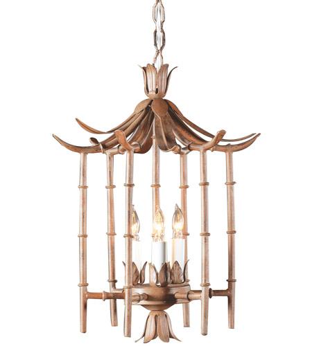 Wildwood Lamps Iron Bamboo Lantern Hanging Lantern in Art Glaze Wrought Iron 268 photo
