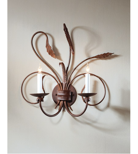 Wildwood Lamps Iron Sconce in Art Glaze Wrought Iron 275 photo