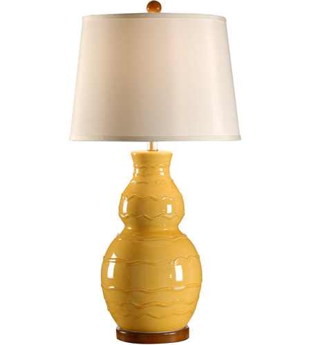 Wildwood Lamps Italia 1 Light Noli Lamp Hand Glazed Table Lamp in Yellow 27540 photo