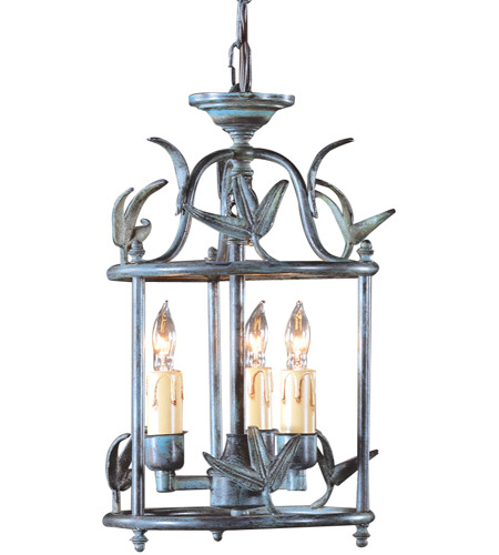 Wildwood Lamps Leaf N Lantern Hanging Lantern in Weather Bronze On Brass 281 photo