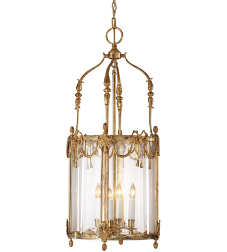 Wildwood Lamps 2861 Lantern 4 Light 15 inch French Gold On Solid Brass Lantern Ceiling Light photo