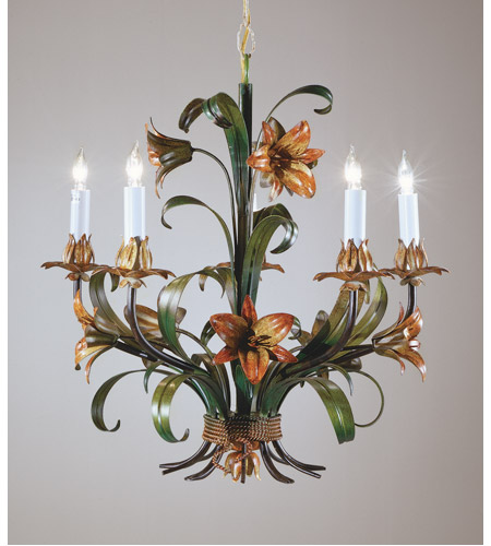 Wildwood Lamps Painted Iron Chandelier in Handmade And Hand Finished 2872 photo
