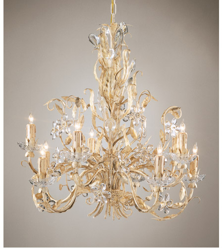 Wildwood Lamps Crystal Flowers Chandelier In Gold And