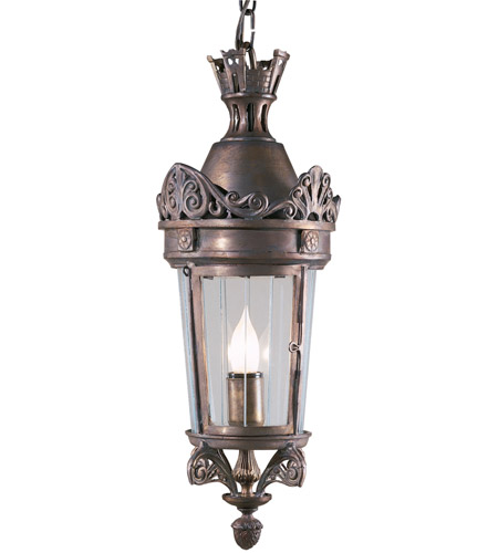 Wildwood Lamps 2886 Crowned 1 Light 9 inch Bronze On Solid Brass Lantern Ceiling Light photo