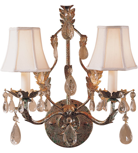 Wildwood Lamps Crystal Sconce in Florentine Art And Lead Crystals 292 photo