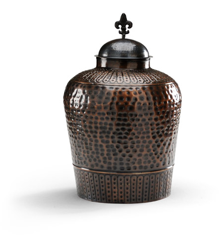 Wildwood Lamps High Country Hammered Cannister Old Bronze Finish Decorative Accessory in Old Bronze 292458 photo