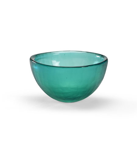 Wildwood Lamps Coastal Glass Bowl Centerpiece in Grey Blue 292552 photo