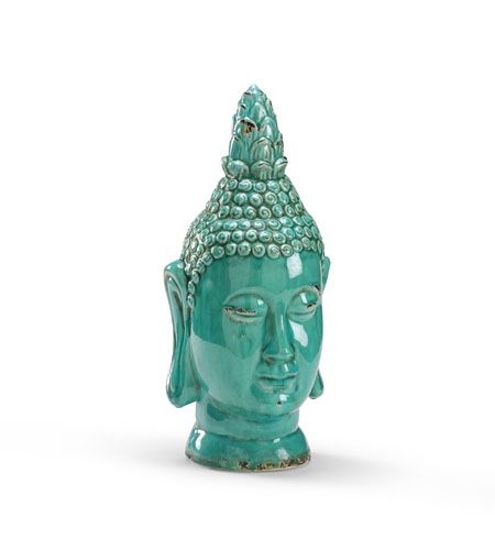 Wildwood Lamps Casual Buddha Head Decor Accessory in Antique Glazed Fired Ceramic 292584 photo