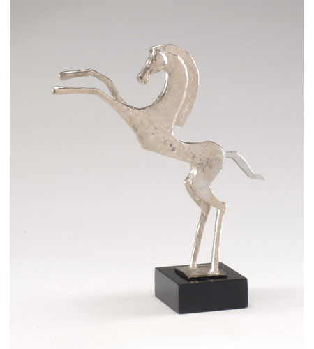 Wildwood Lamps Decorum by Mary Taylor Hand Finished Rearing Stallion - Cast Alloy On Marble 294203 photo