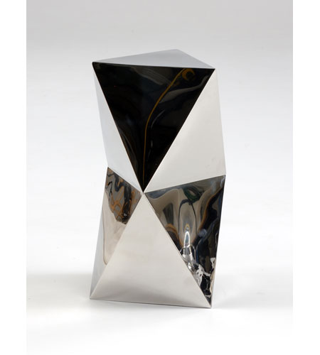 Wildwood Lamps Decorum by Mary Taylor Hand Formed Triad Accent Table - Polished Stainless 294238 photo