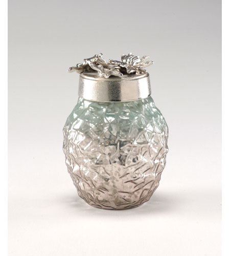 Wildwood Lamps Decorum by Mary Taylor Art Glass Leaf Bottle - Cast Alloy Top 294289 photo